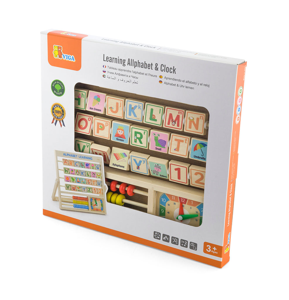 Viga Learning Alphabet & Clock