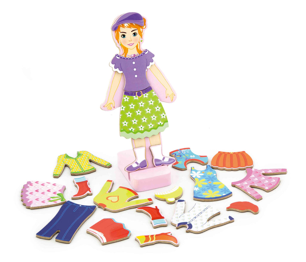 Viga Magnetic Dress Up - Girl
