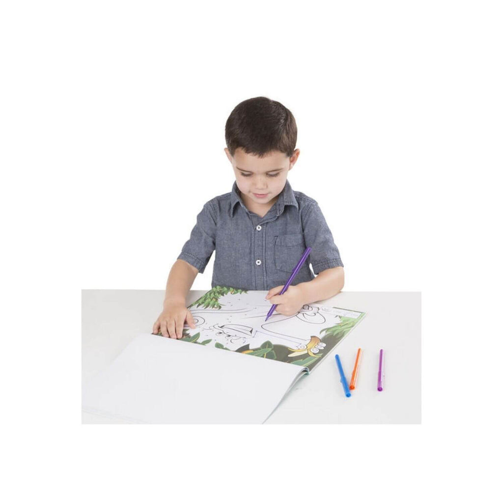 Melissa & Doug ABC 123 Dot-to-Dot Coloring Pad Wild Animals 2