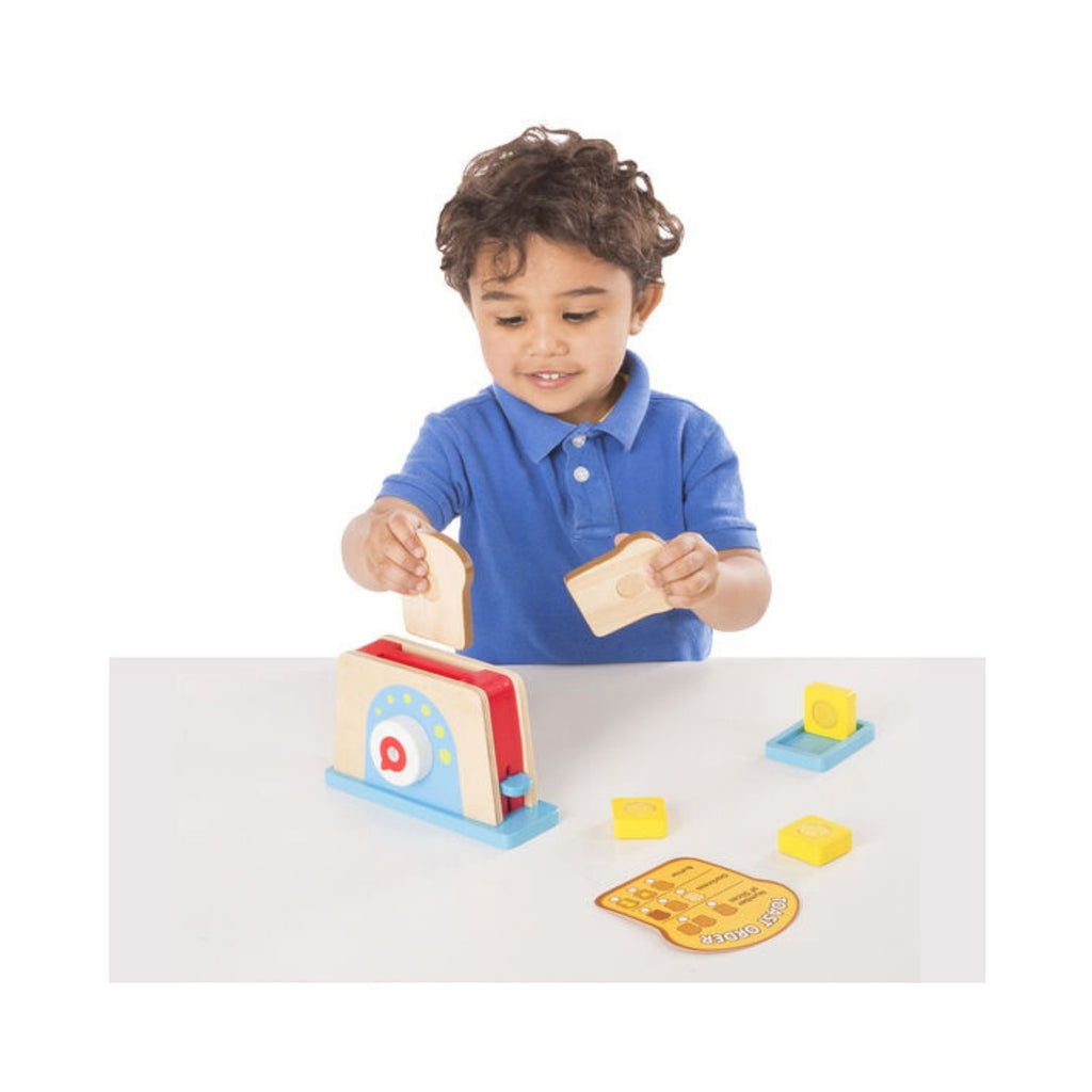 Melissa & Doug Bread and Butter Toaster Set 2