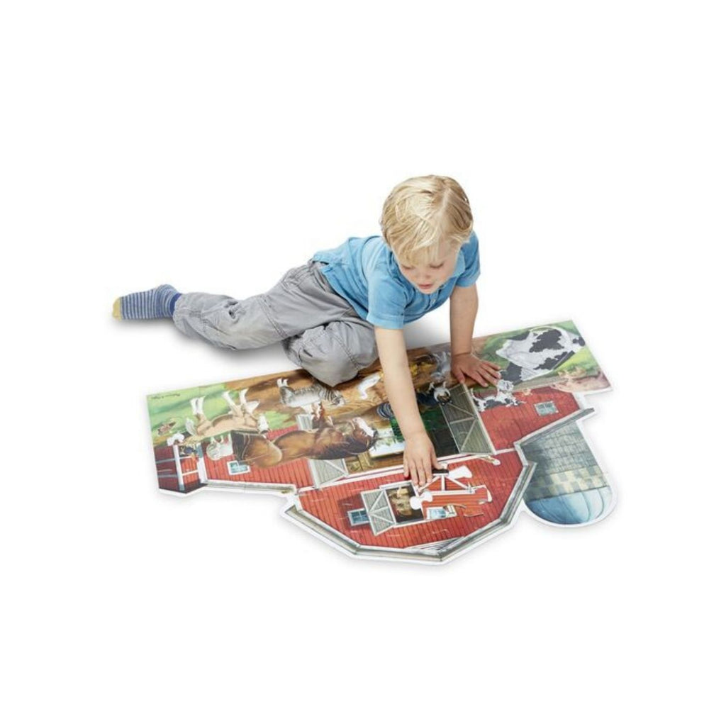 Melissa & Doug Busy Barn Floor Puzzle 2