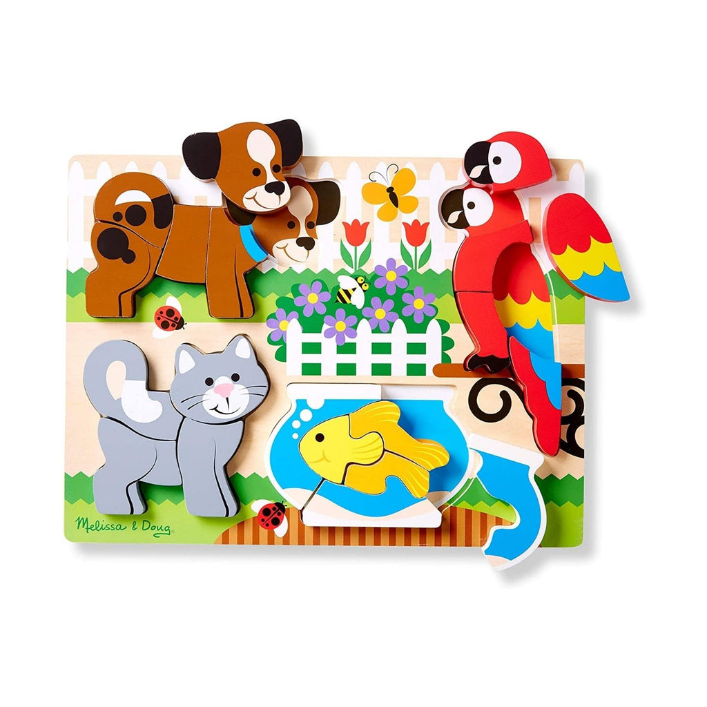 Melissa & Doug Chunky Wooden Jigsaw Puzzle Pets 3