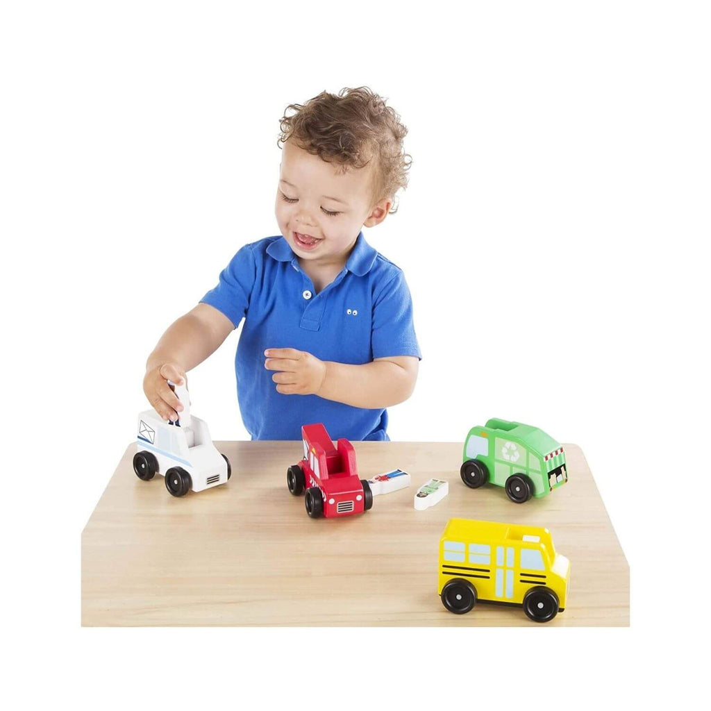 Melissa & Doug Classic Toy - Community Vehicle Set 2