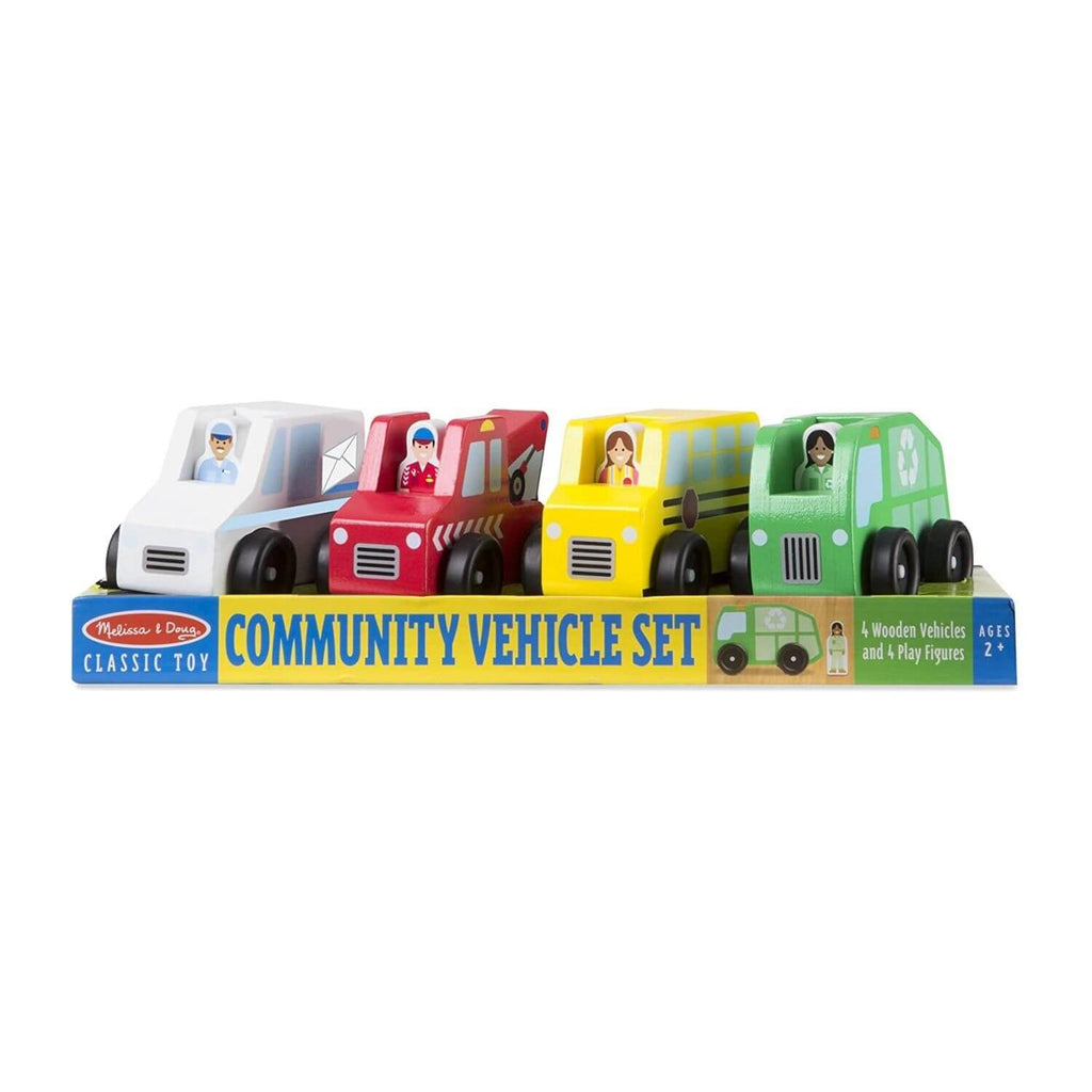 Melissa & Doug Classic Toy - Community Vehicle Set