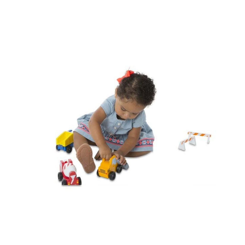 Melissa & Doug Classic Toy - Construction Vehicle Set 2