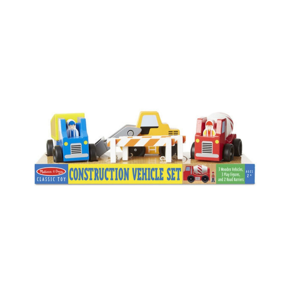 Melissa & Doug Classic Toy - Construction Vehicle Set
