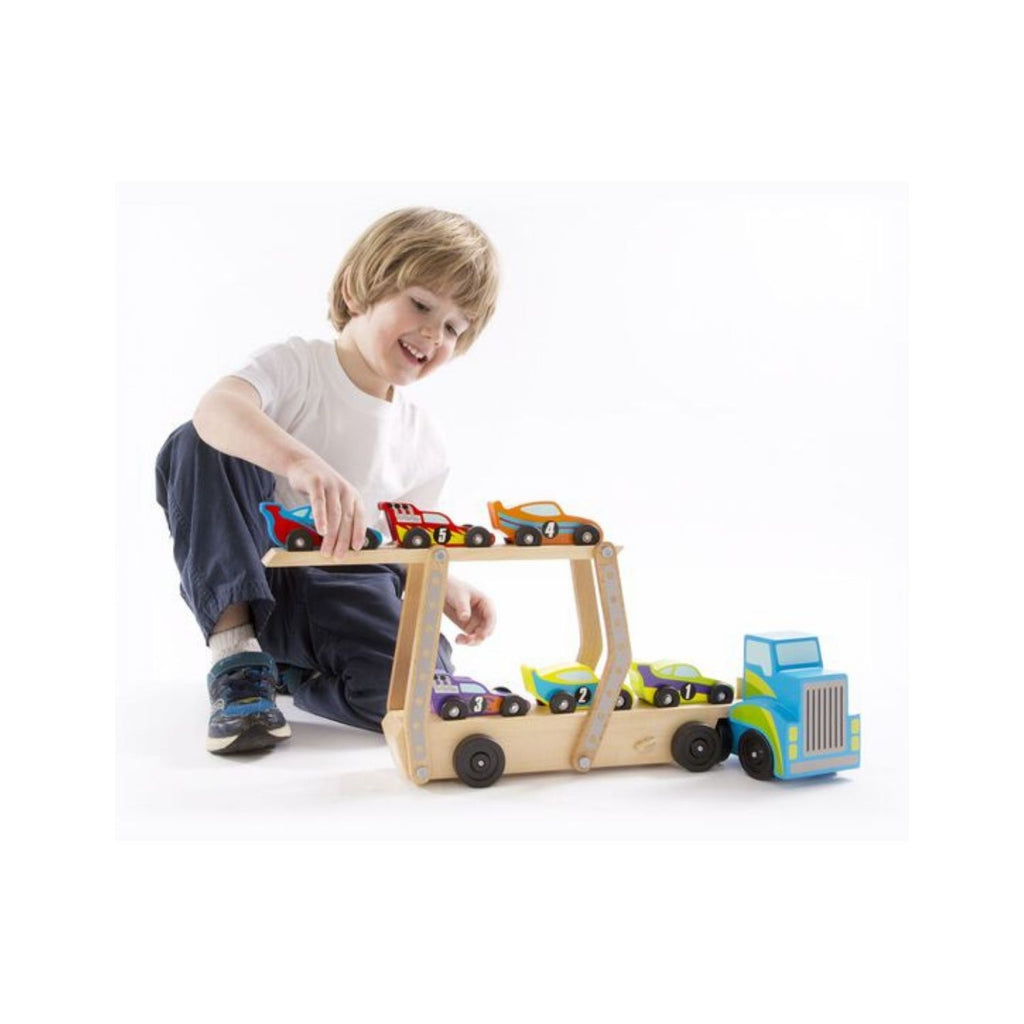 Melissa & Doug Classic Toy Mega Race Car Carrier 2