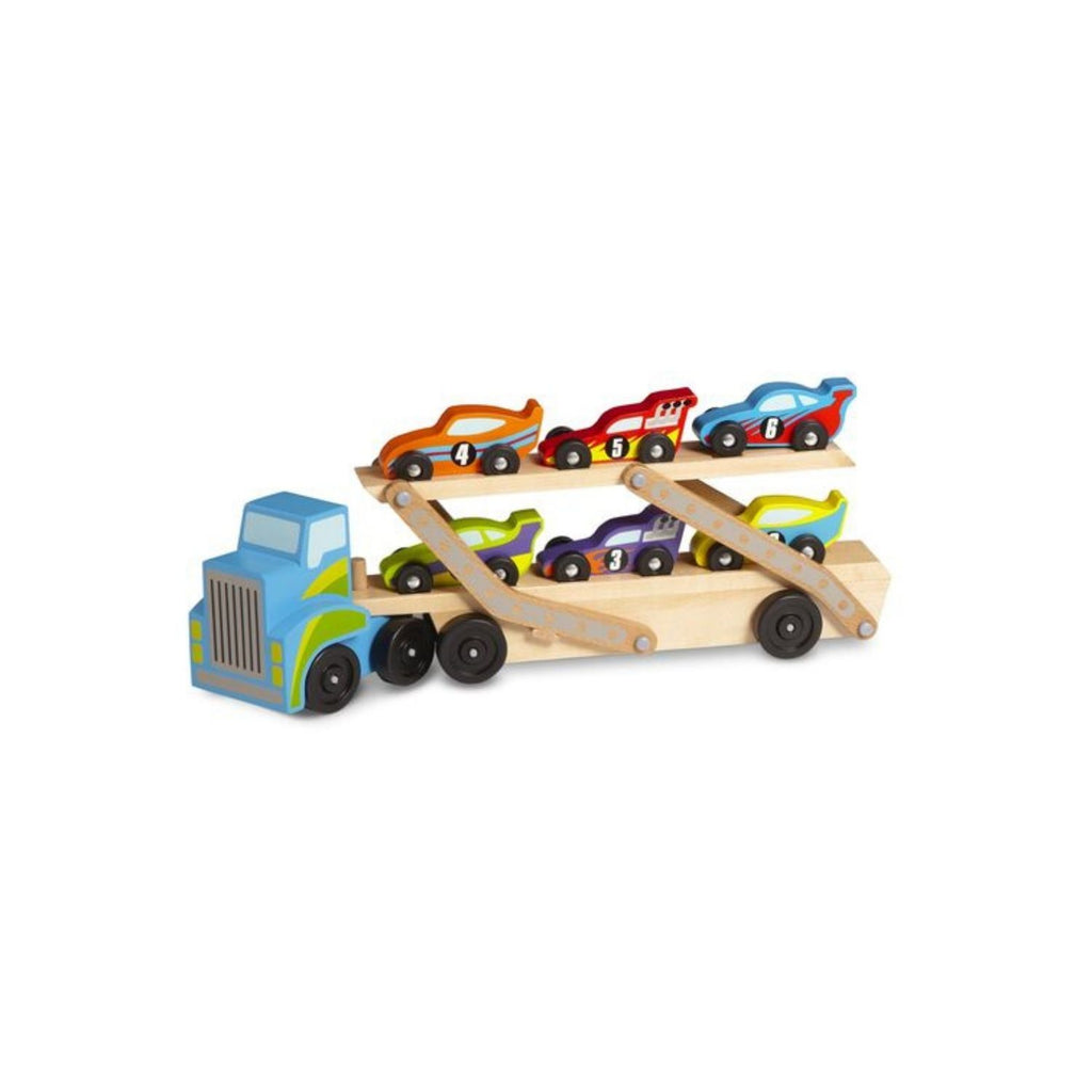 Melissa & Doug Classic Toy Mega Race Car Carrier 4