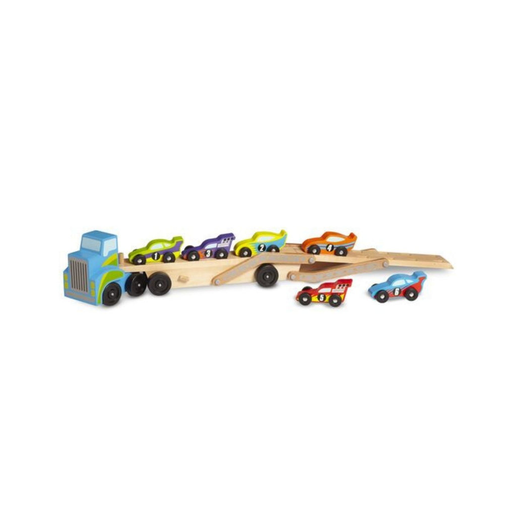 Melissa & Doug Classic Toy Mega Race Car Carrier 5