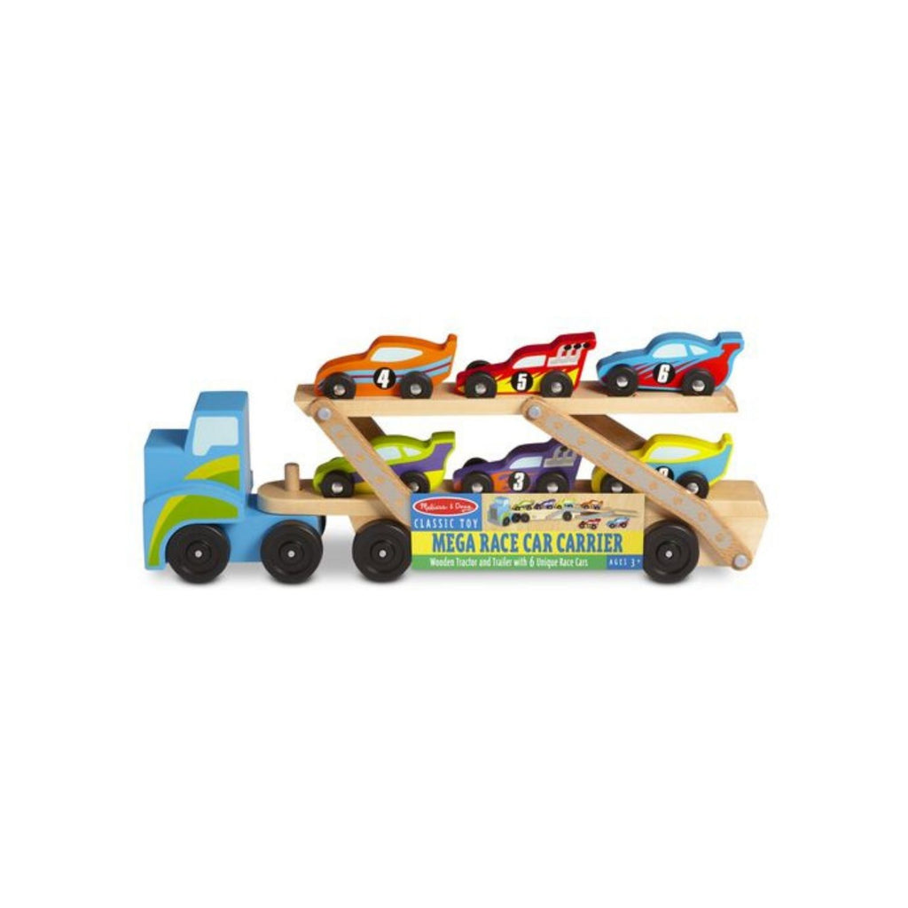 Melissa & Doug Classic Toy Mega Race Car Carrier