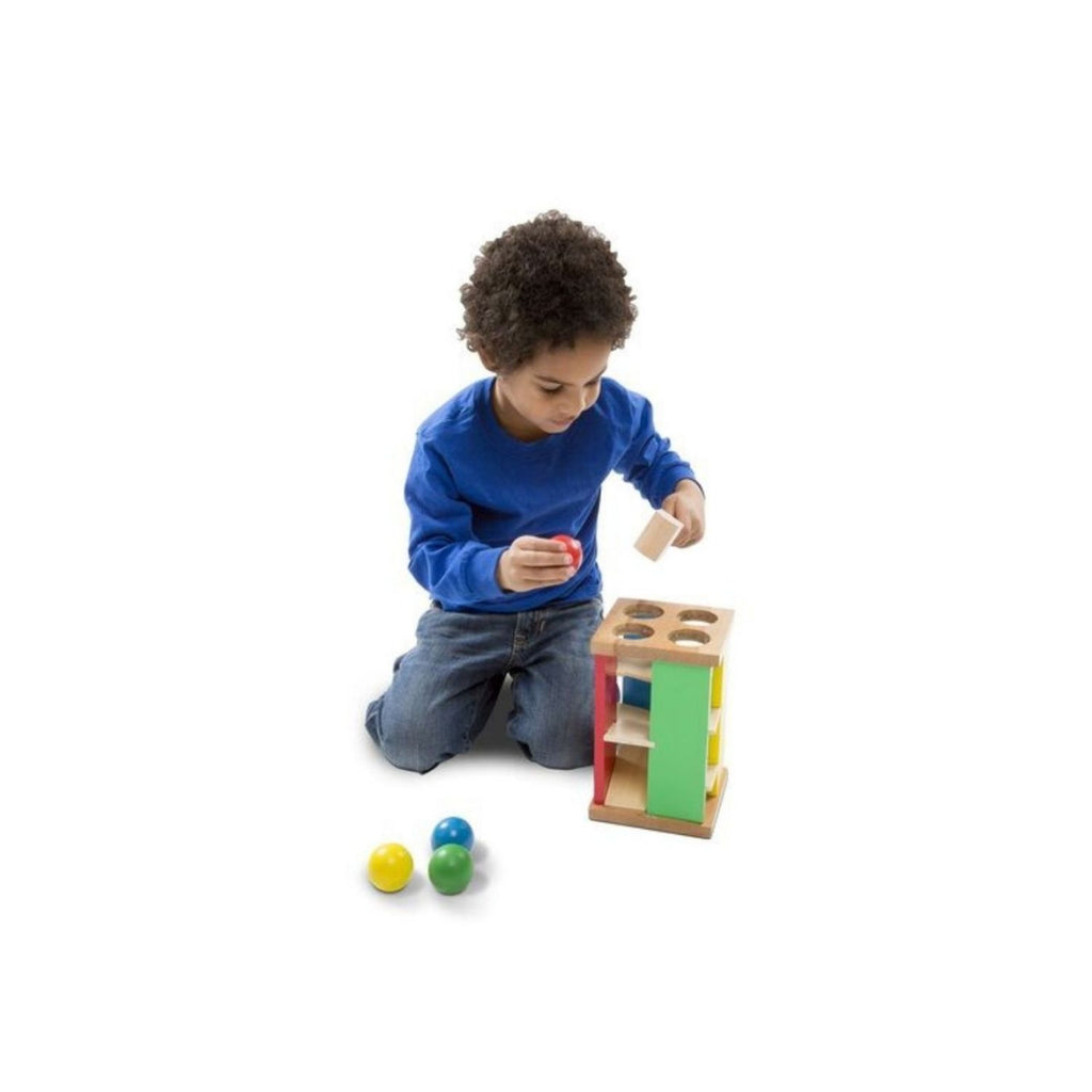 Melissa & Doug Classic Toy Pound and Roll Tower 3