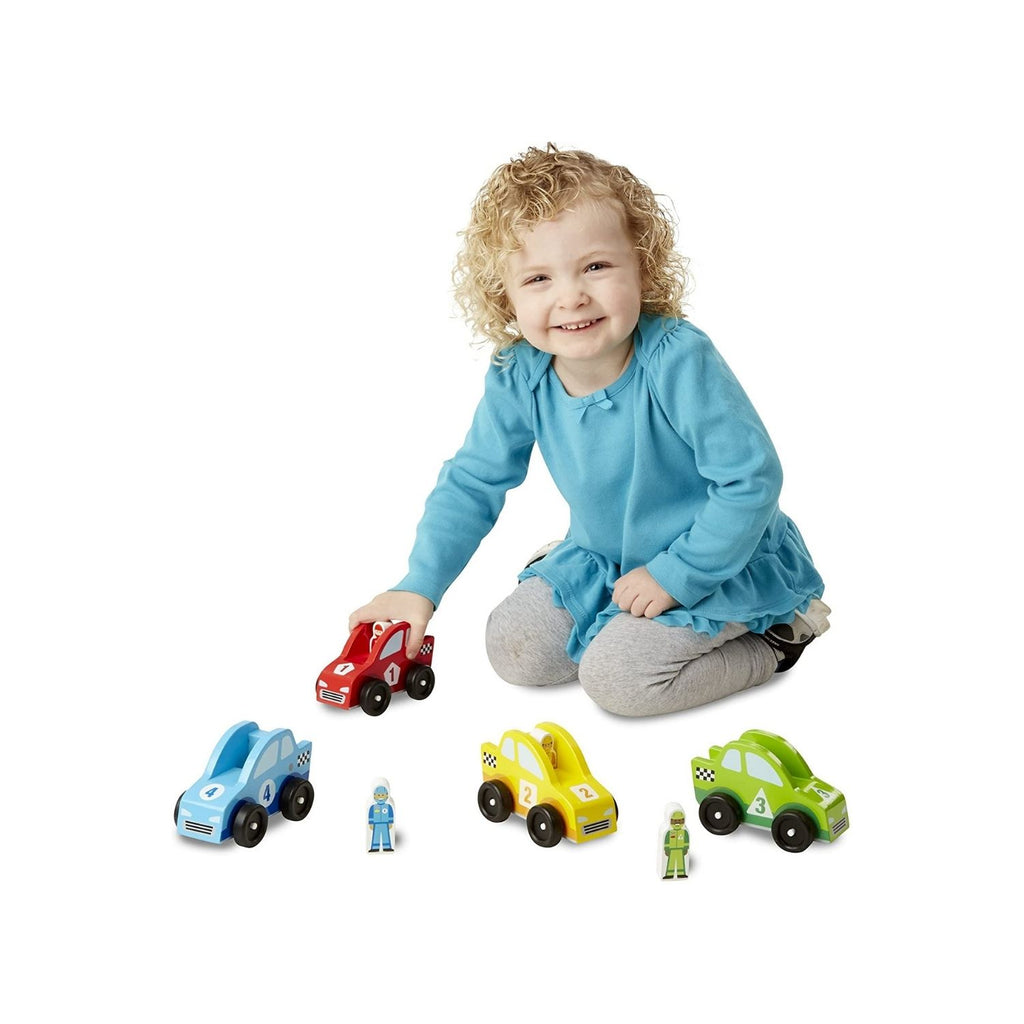 Melissa & Doug Classic Toy - Race Car Vehicle Set 2