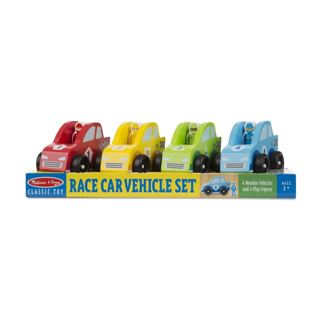 Melissa & Doug Classic Toy - Race Car Vehicle Set
