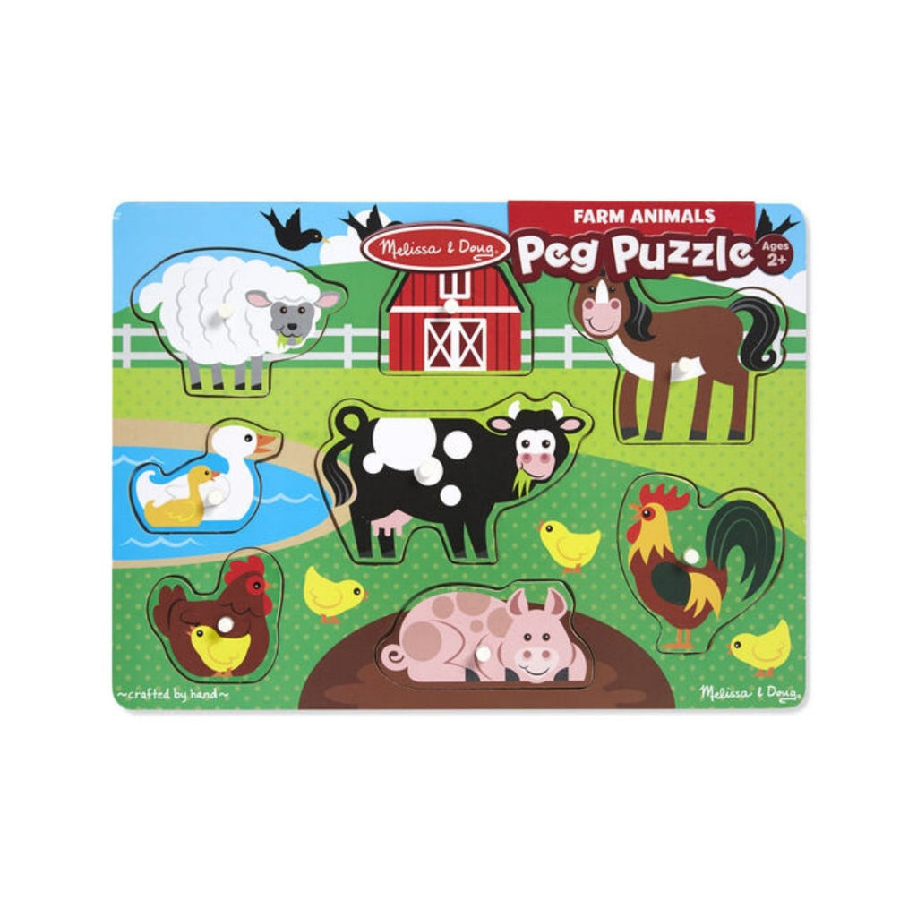 Melissa & Doug Farm Animals Peg Puzzle 3