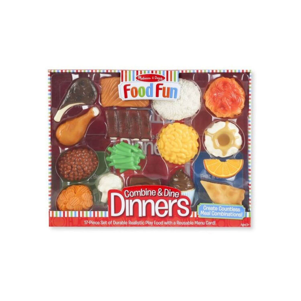 Melissa & Doug Food Fun Combine & Dine Dinner Red