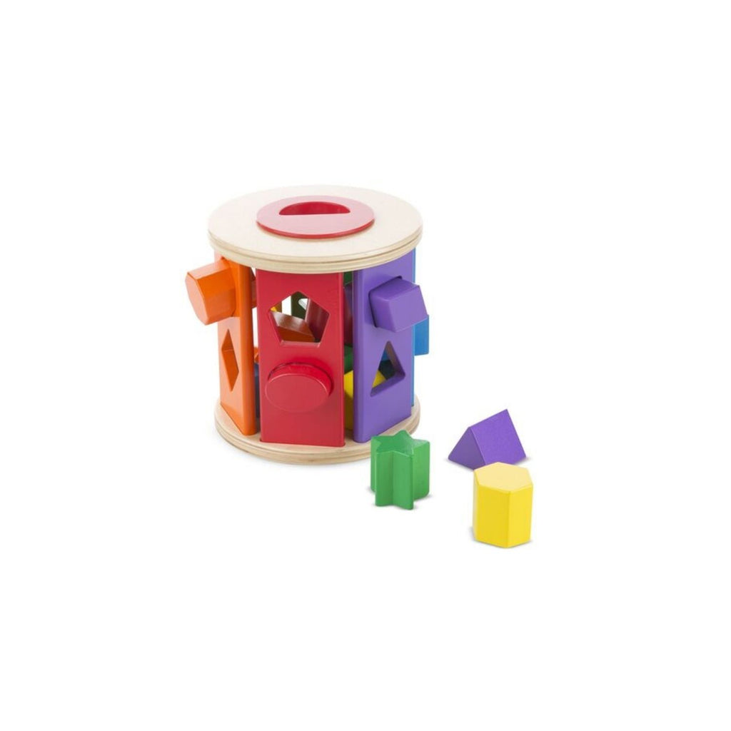 Melissa & Doug Match & Roll Shape Sorter 3