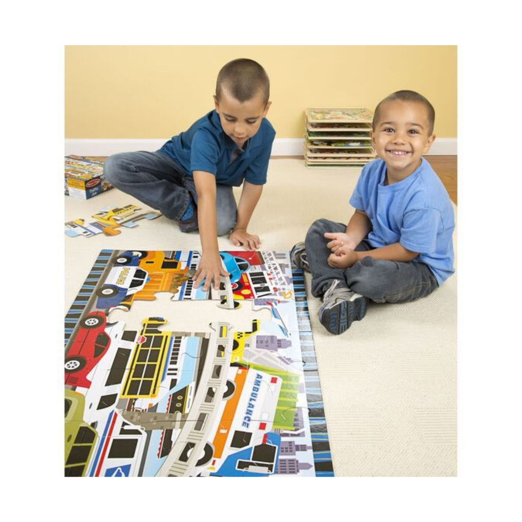 Melissa & Doug Traffic Jam Floor Puzzle 6