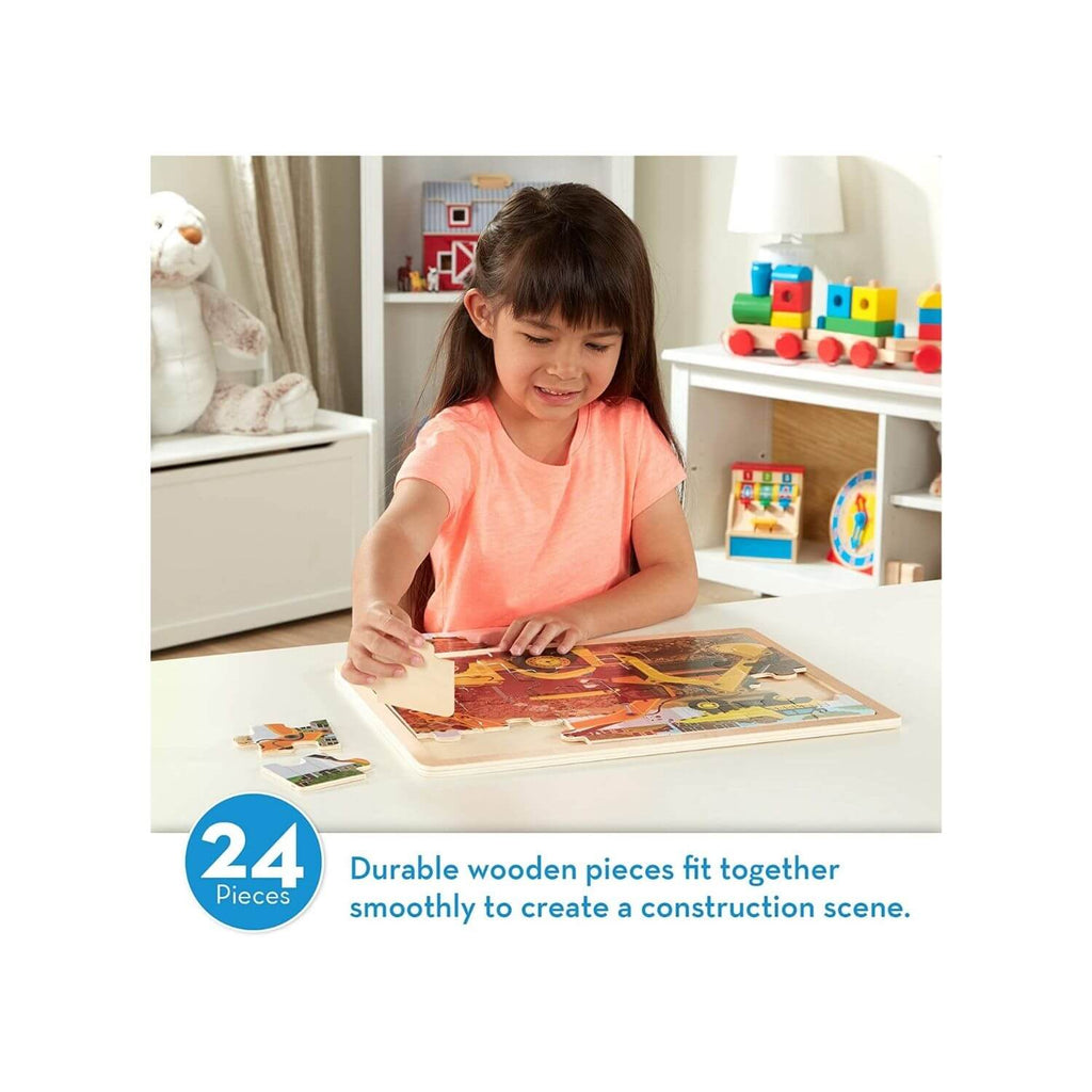 Melissa & Doug Wooden Jigsaw Puzzle Diggers at Work 2