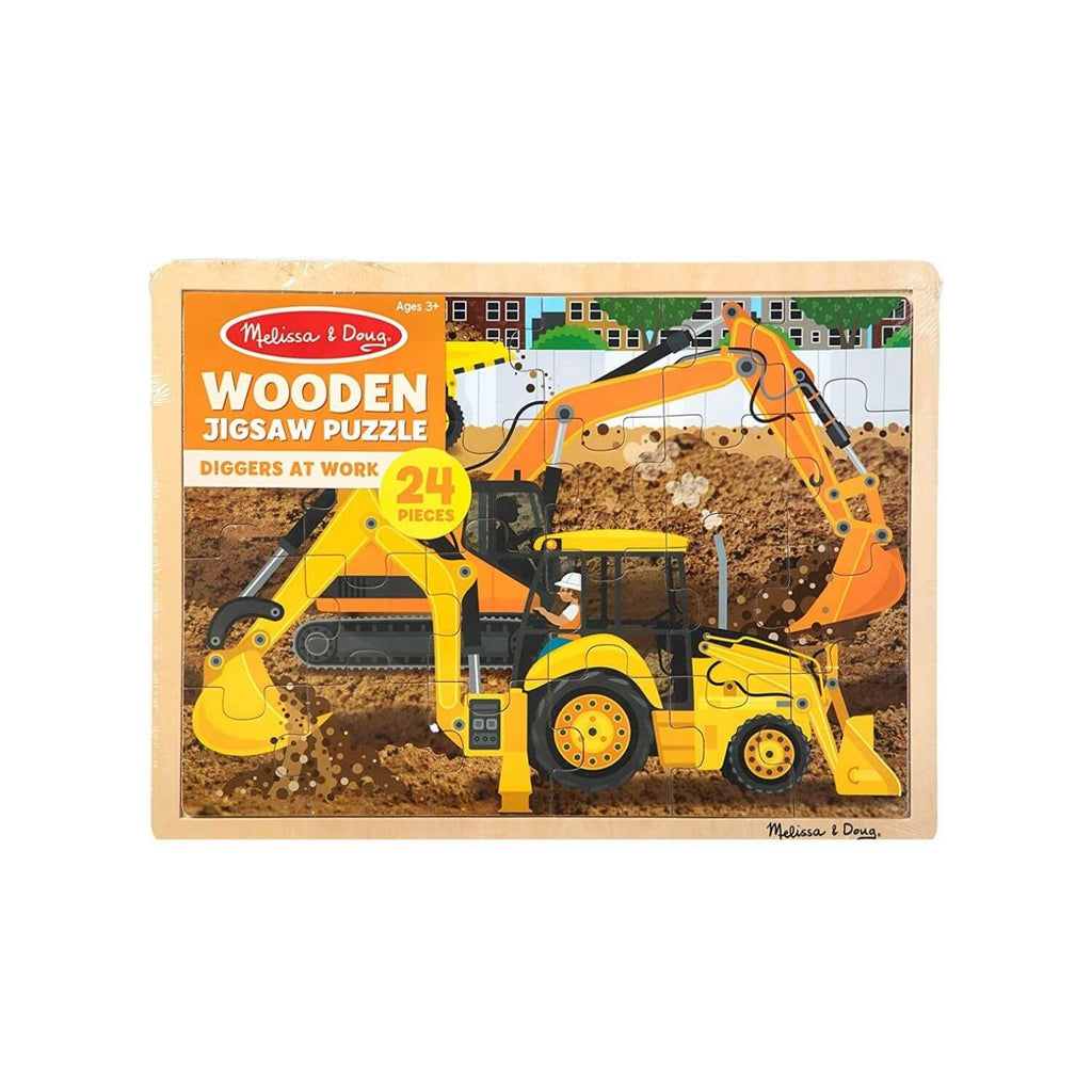 Melissa & Doug Wooden Jigsaw Puzzle Diggers at Work 4