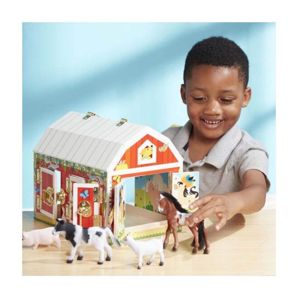 Melissa & Doug Wooden Latches Barn 2