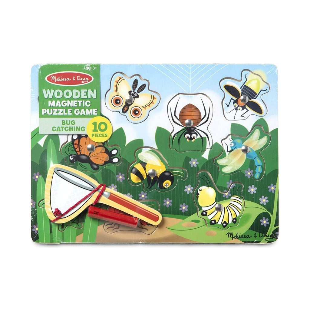 Melissa & Doug Wooden Magnetic Puzzle Game – Bug Catching 4
