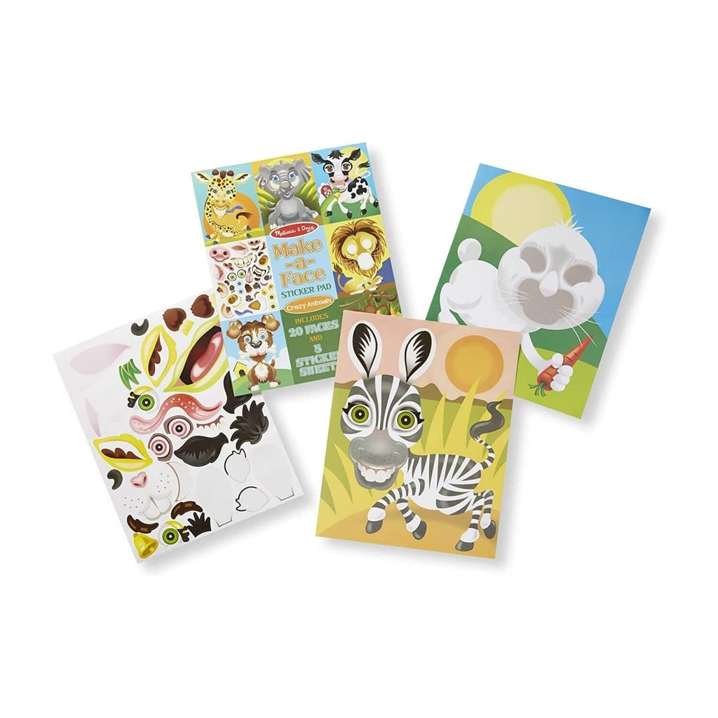 Melissa and Doug Make a Face Sticker Pad Crazy Animals