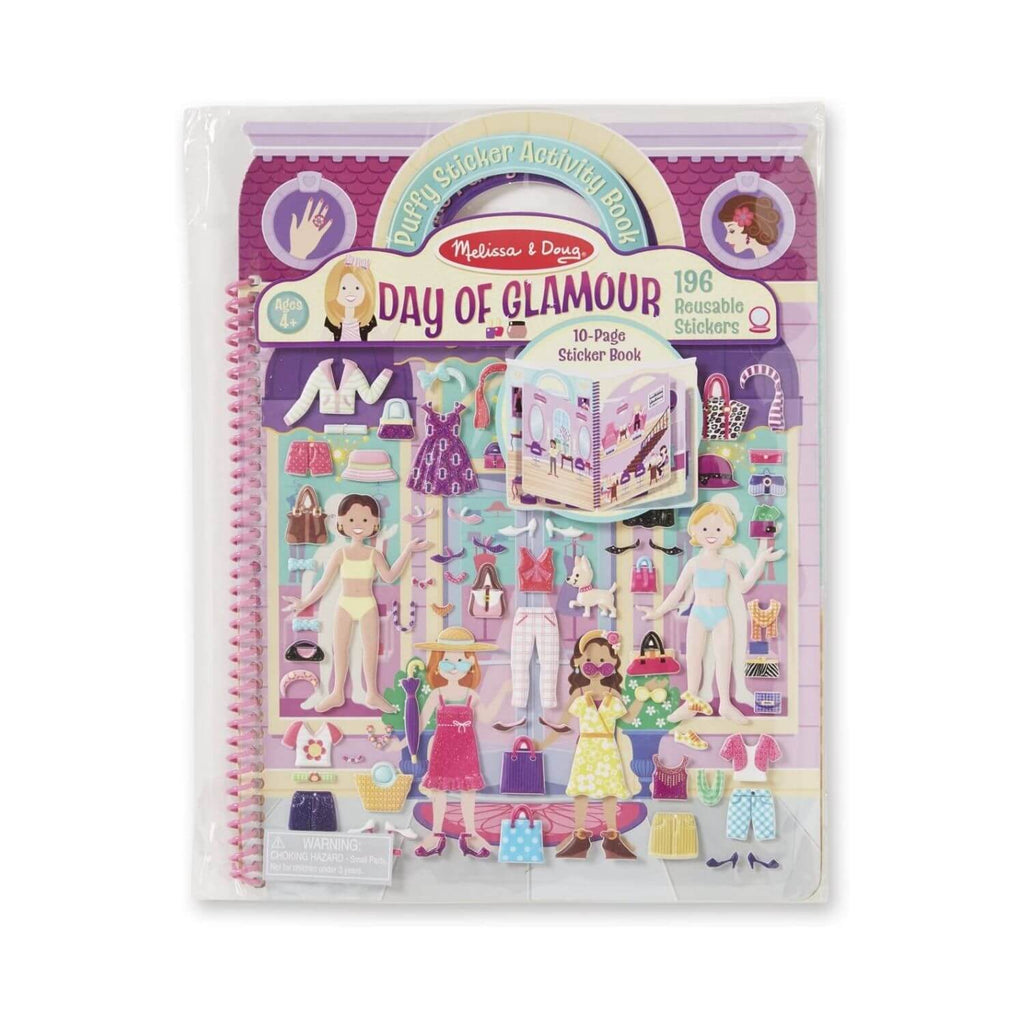 Melissa and Doug Puffy Sticker Activity Book Day of Glamour