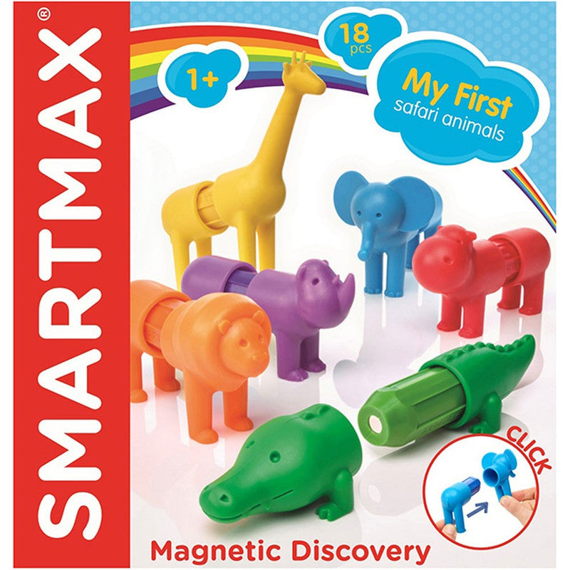 My 1st Safari Animal By SmartMax - Magnetic Discovery Building Set