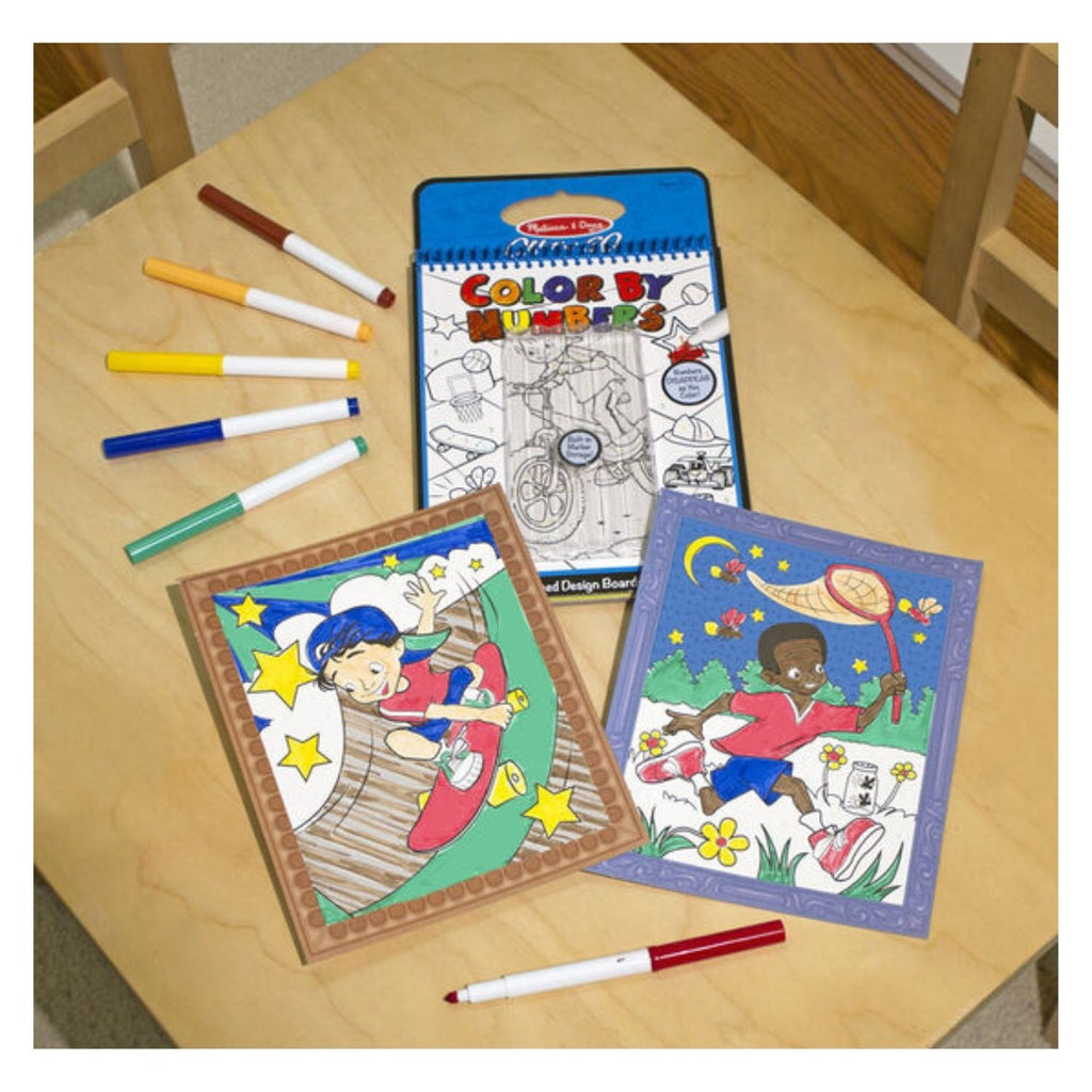Melissa & Doug On the Go Color by Numbers Coloring Pad 2