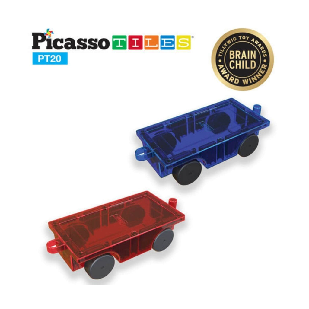 PicassoTiles 2 Piece Car Truck Set PT20
