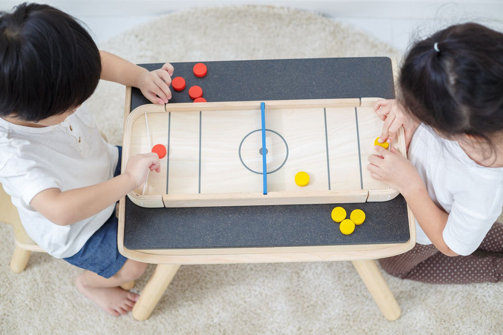 PlanToys Wooden 2-In-1 Shuffleboard-Game