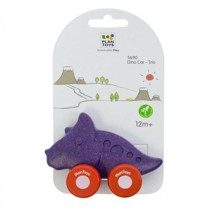 PlanToys Wooden Dino Car - Trio