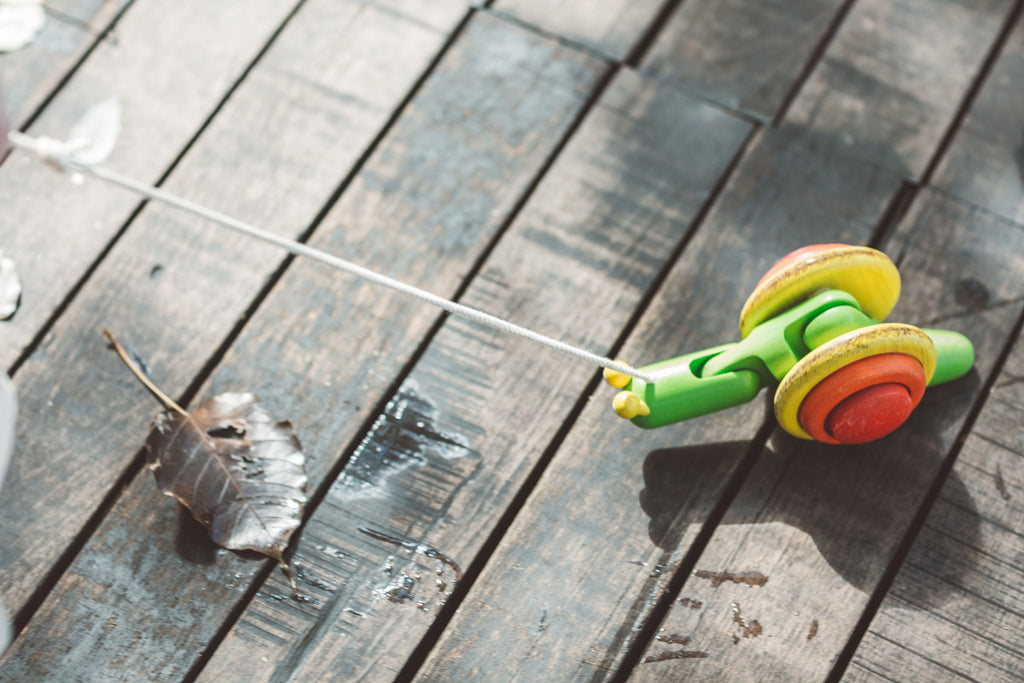 PlanToys Wooden Pull-Along Snail