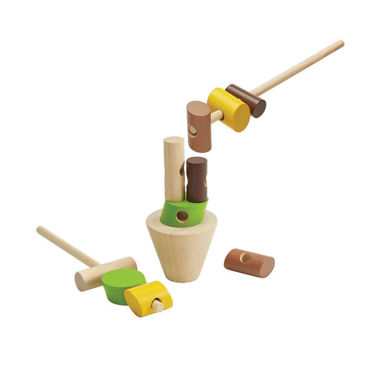 PlanToys Wooden Stacking Logs
