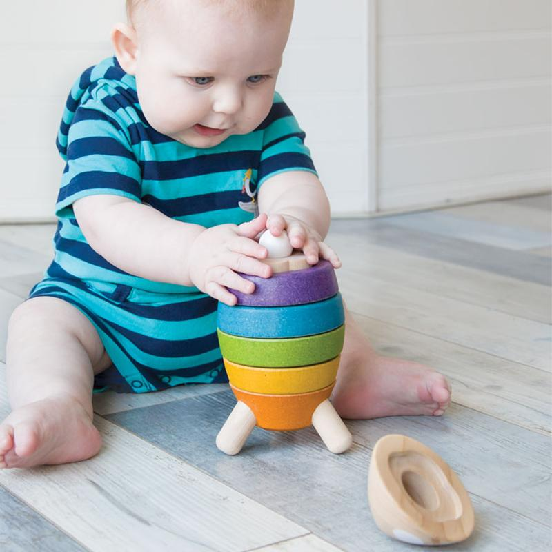 PlanToys Wooden Stacking Rocket