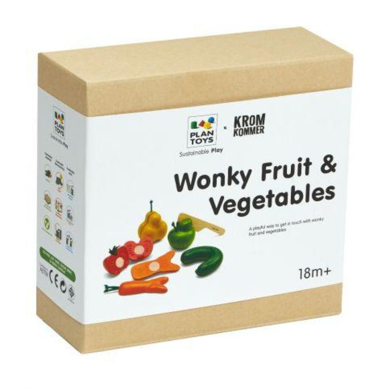 PlanToys Wooden Wonky Fruit & Vegetables