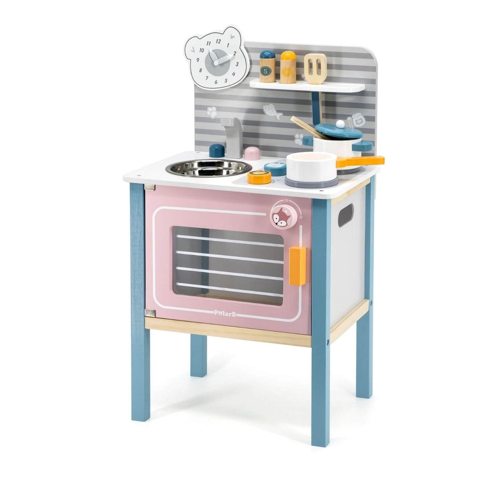 PolarB Kitchen w/ Cooking Accessories 4