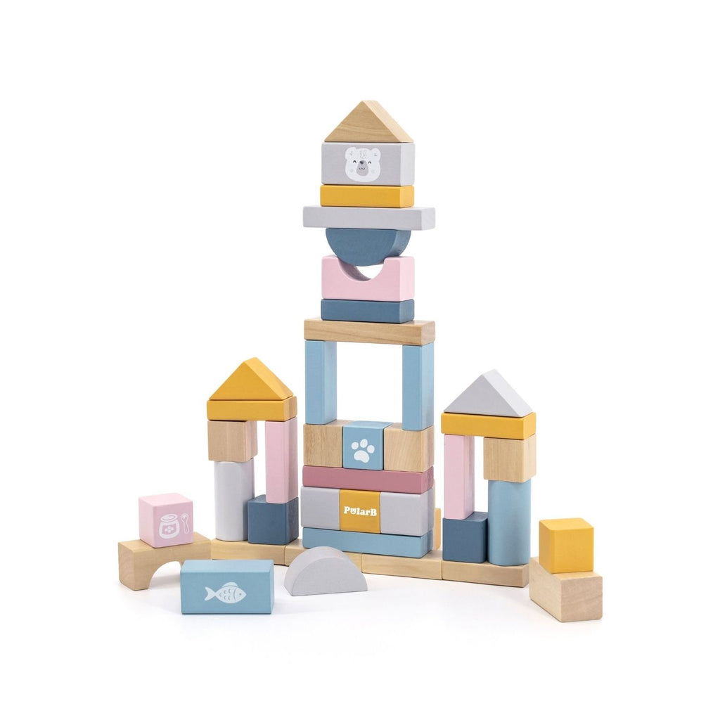 PolarB Wooden Blocks - 60pcs