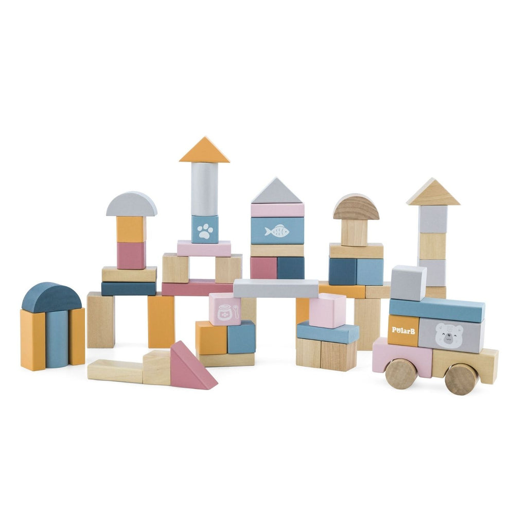 PolarB Wooden Blocks - 60pcs 5