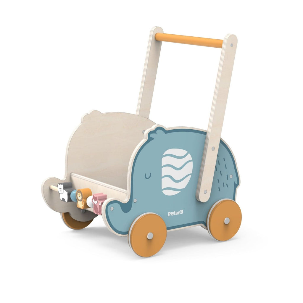 PolarB Wooden Elephant Walker / Buggy