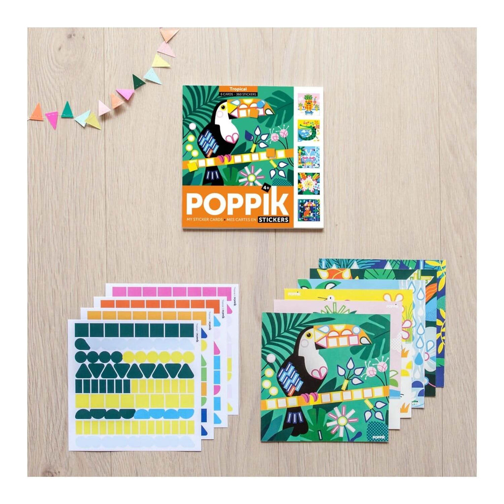 Poppik My Sticker Cards - Tropical 2