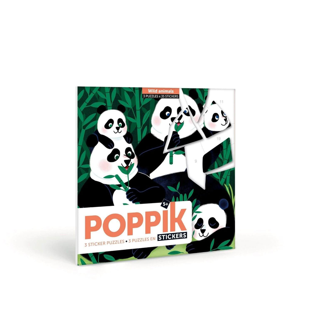 Poppik My Sticker Puzzle - Wild Animals 3