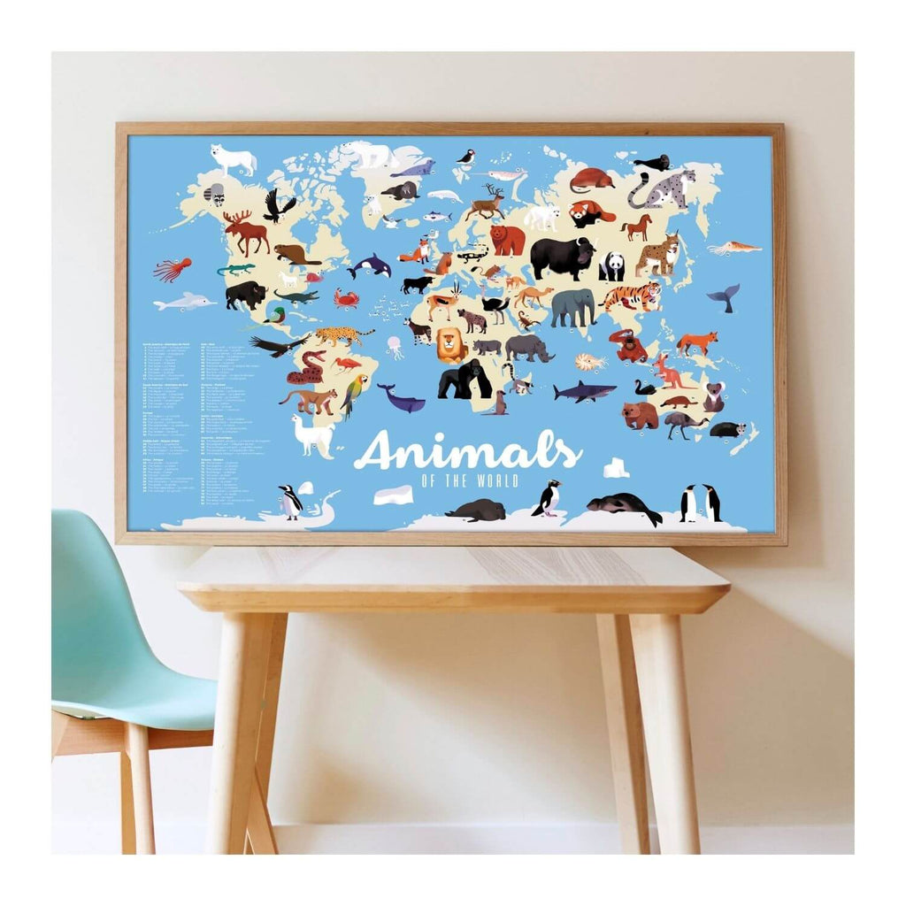 Poppik Sticker Poster Discovery - Animals of the World 3