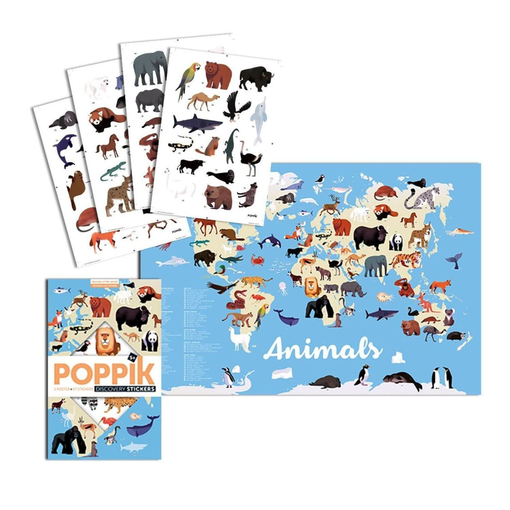Poppik Sticker Poster Discovery - Animals of the World 4