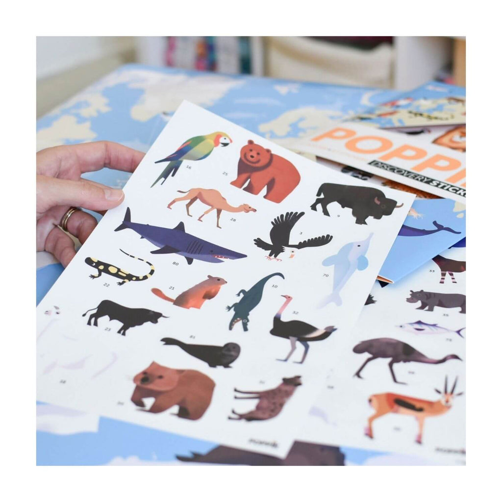 Poppik Sticker Poster Discovery - Animals of the World 5
