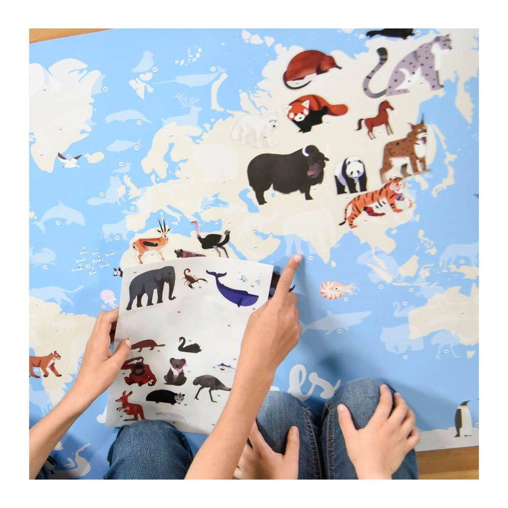 Poppik Sticker Poster Discovery - Animals of the World 7