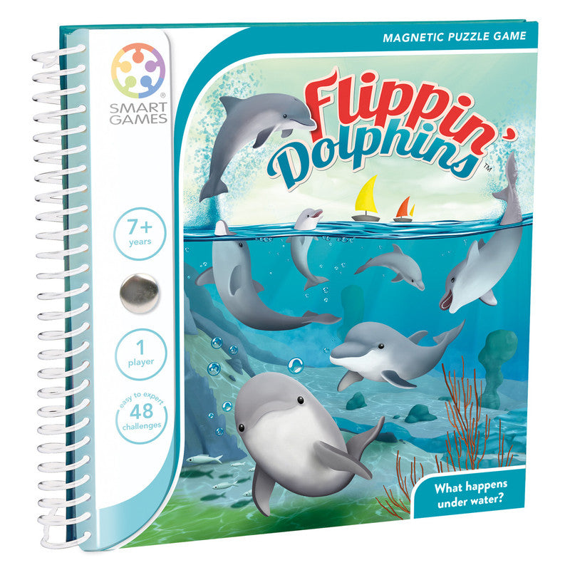 Smart Games Flippin' Dolphins Magnetic Travel Game