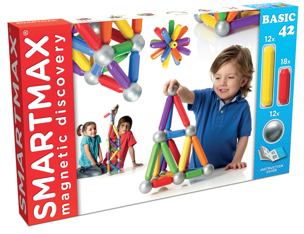 Starter Set Xl (42 Pcs) By Smartmax - - A Magnetic Discovery Building Set