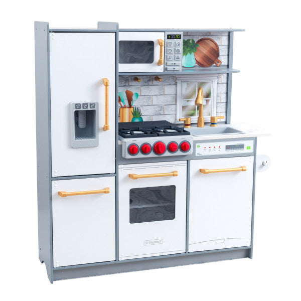 Uptown Elite White Play Kitchen with EZ Kraft Assembly