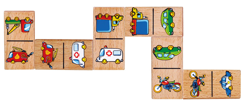 Viga Wooden Dominoes - Vehicles